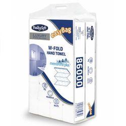 Ręcznik papierowy składany W Bulkysoft Luxury membrane plus 3 warstwy 1500 szt. biały, 86000