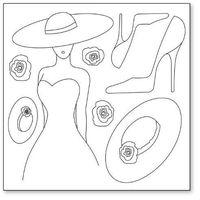 Serwetka ryżowa 50x50 cm - szkic - 01 marki Stamperia