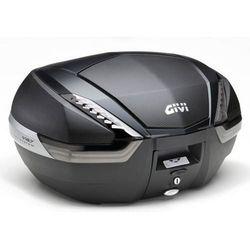 Kufer  V47NNT (czarny, 47 litrów, szare odblaski, pokrywa karbonowa), Givi