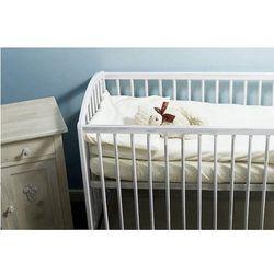 Pościel do wózka lub kołyski , do spania i kąpania, biała 60x80 cm - biały marki Nanaf organic