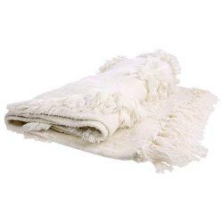 Hk living biała narzuta z frędzlami (125x150) tts1011 (8718921020701)