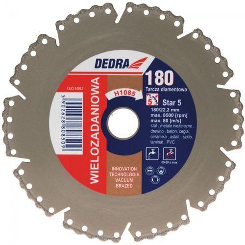 Tarcza do cięcia DEDRA H1085 180 x 22.2 mm Vacuum Braze diamentowa + DARMOWA DOSTAWA! (tarcza do cięcia) od ELECTRO.pl