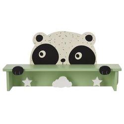 Drewniany wieszak z półką Hatu, panda, 692148