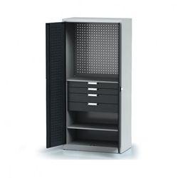 B2b partner Szafa warsztatowa - 2 półki, 4 szuflady