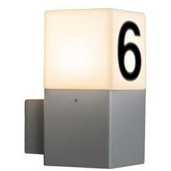 Lampa zewnętrzna ścienna Denmark jasnoszara z numerem domu (lampa zewnętrzna ścienna)