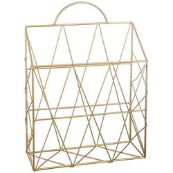 Organizer, stojak na prasę, dokumenty, wykonany z metalu, kolor złoty, waga 360 g, solidna konstrukcja, wymiary 35.5x25.5x9.5 cm marki Atmosphera créateur d'intérieur