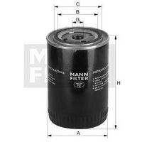 Filtr oleju W 68/3 / OP572 MANN, towar z kategorii: Filtry oleju