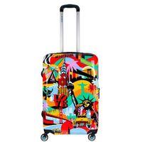 Średnia walizka URBE BG Berlin Lobo American Way - multikolor