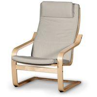 poduszka na fotel poäng ii, beżowo-szary szenil, fotel poäng ii, vintage marki Dekoria