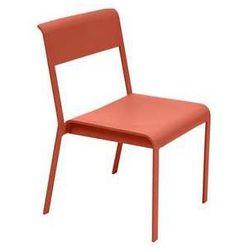 Krzesło aluminiowe do salonu i ogrodu Bellevie Fermob pomarańczowe