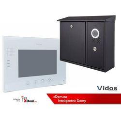 Zestaw skrzynka na listy z wideodomofonem. monitor 7'' s551-skn_m670w marki Vidos