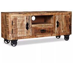 szafka pod telewizor z chropowatego drewna mango, 120x30x50 cm marki Vidaxl
