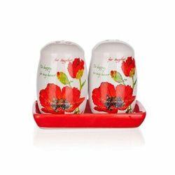 BANQUET Red Poppy solniczka i pieprzniczka,