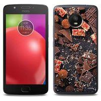 Foto Case - Motorola Moto E4 - etui na telefon Foto Case - kawałki czekolady, ETMT550FOTOFT053000