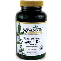 Swanson Witamina D3 2000IU 250 kaps. (artykuł z kategorii Witaminy i minerały)