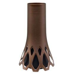 wazon na cmentarz 1,3 l brązowy marki Plastia