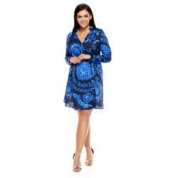 Sukienka donatella czarna w niebieskie wzory marki Sugarfree