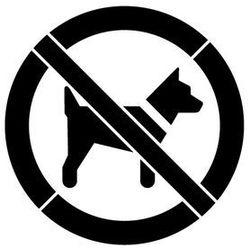 Szablon z tworzywa do malowania Znak zakaz wstępu ze zwierzętami - 15x15 cm