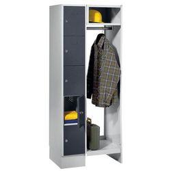 Eugen wolf System garderob ze schowkami,5 schowków po lewej stronie, 5 wieszaków na ubrania