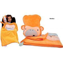 Kocyk i poduszeczka snoozihedz - monkey marki Trunki