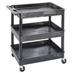 Seco Wózek uniwersalny multi, dł. x szer. x wys. 920x640x975 mm, 3 piętra, czarny. od