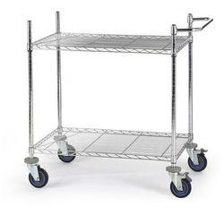 Wózek stołowy z kraty drucianej, chromowany,z 2 piętrami marki Unbekannt