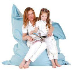 Beliani Xxl poducha pufa worek do siedzenia 140x180cm błękitny