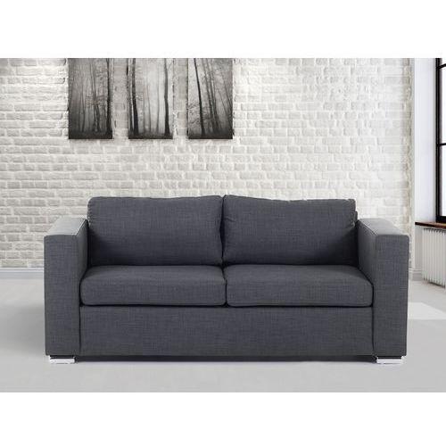 Sofa ciemnoszara - trzyosobowa - kanapa - sofa tapicerowana - HELSINKI, Beliani