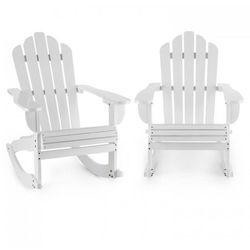 Blumfeldt Rushmore Ogrodowe krzesło bujane 2 sztuki styl Adirondack kolor biały (4260509679626)