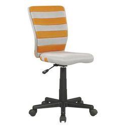 Krzesło dziecięce fuego pomarańczowo-popielaty marki Halmar