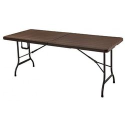 Stół cateringowy składany Turner 2X - brąz, MZK-180 BROWN