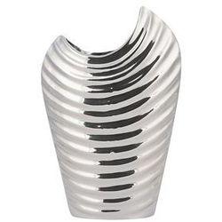 Beliani Dekoracyjny wazon na kwiaty srebrny ecetra (4260624118864)