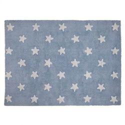 Dywan do prania w pralce blue stars white, marki Lorena canals