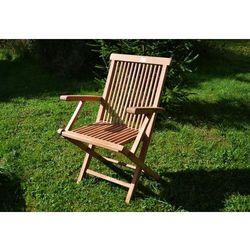 Składane krzesło DIVERO z drewna tekowego