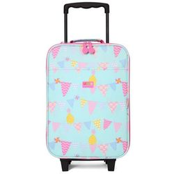 Penny Scallan Design, walizka na kółkach i nóżkach, miętowo-różowa w ananasy - produkt z kategorii- wal