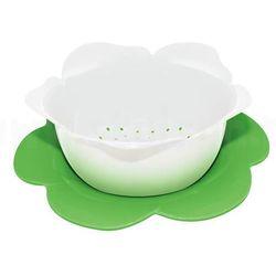 Durszlak z podstawką, biało-zielony, duży - zak! marki Zak! designs