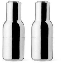 Menu Młynki do soli i pieprzu bottle grinder, lustrzane, 2 szt -