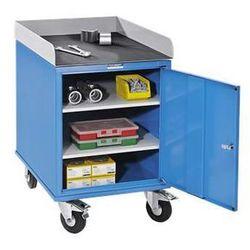 Eurokraft Montażowy wózek pomocniczy, lakierowany proszkowo, z szafką skrzyniową z blachy,