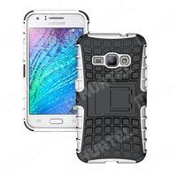 Pancerne etui Kickstand Samsung Galaxy J1 2016 J120 białe - Biały - sprawdź w wybranym sklepie