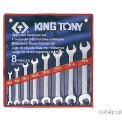 King tony Zestaw kluczy płaskich 8cz. 6 - 22mm 1108mr