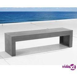 Beliani ławka betonowa - ławka xxl - ławka ogrodowa - ławka betonowa - tarant (7081454221596)