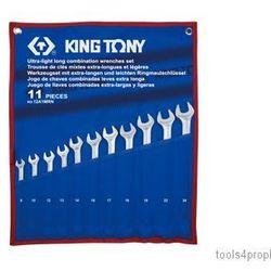 ZESTAW KLUCZY PŁASKO-OCZKOWYCH DŁUGICH 11cz. 8 - 24mm King Tony 12A1MRN