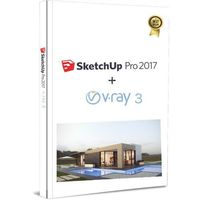 Trimble Sketchup pro 2017 eng win/mac box + v-ray 3 usb