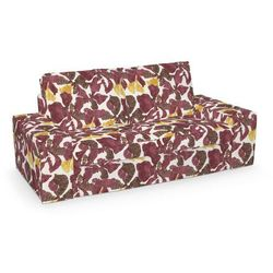 Dekoria  pokrowiec na sofę kivik 2-osobową, nierozkładaną, żółto-brązowe kwiaty, sofa kivik 2-osobowa, wyprzedaż do -30%