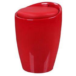 Stołek, puf tubo - - czerwony abs marki King home