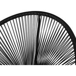 Beliani Meble ogrodowe czarne - balkonowe - stół z 2 krzesłami - acapulco