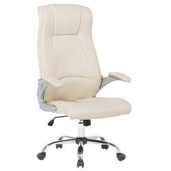 Beliani Krzesło biurowe beżowe - meble biurowe - fotel komputerowy - commander