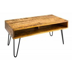 Sofa.pl Invicta stolik kawowy scorpion 100 cm - naturalne mango, drewno, żelazo