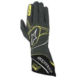 Rękawice kartingowe  tech 1-kx - szaro / czarno / żółty \ m wyprodukowany przez Alpinestars
