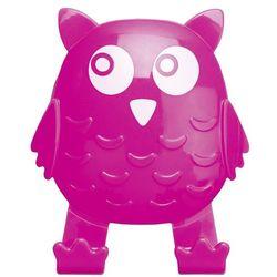 Uniwersalny haczyk OWL na przyssawkę, wieszak - kolor różowy, WENKO